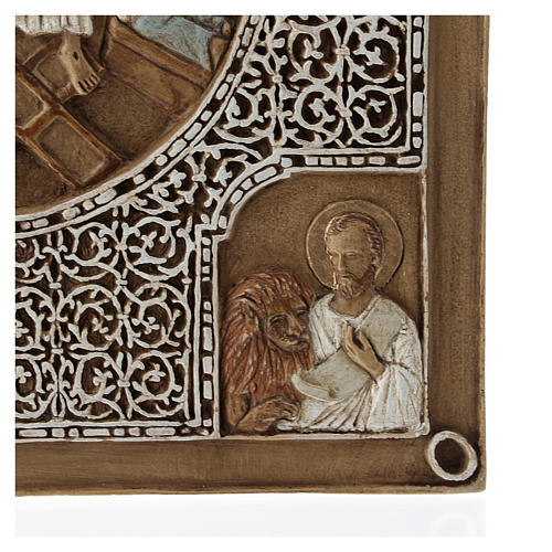 Bassorilievo coprievangeliario Resurrezione 33 cm pietra 5