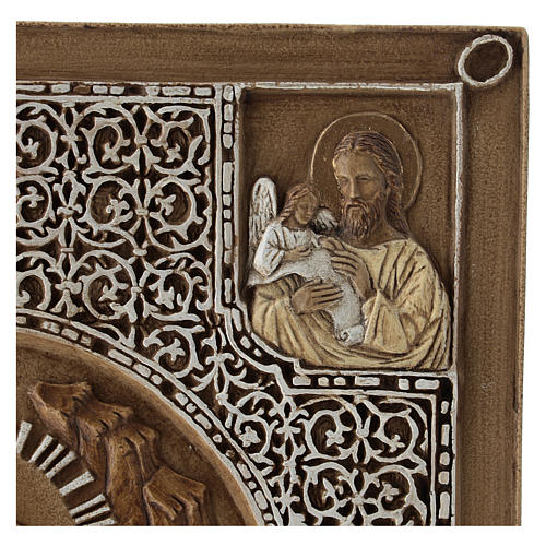 Bassorilievo coprievangeliario Resurrezione 33 cm pietra 6