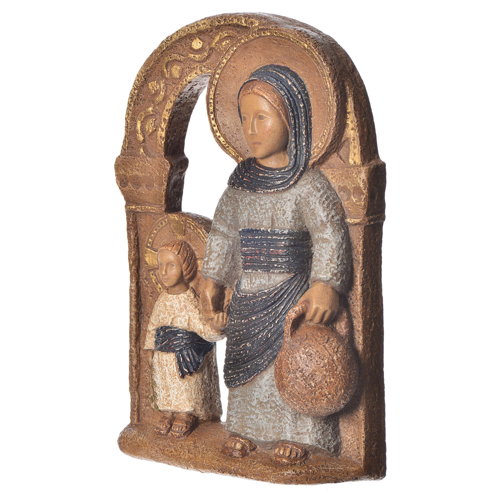 Virgin of Nazareth, blue mantle 35cm, Bethléem stone 4