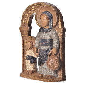 Virgin of Nazareth, blue mantle 35cm, Bethléem stone s2