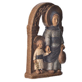 Virgin of Nazareth, blue mantle 35cm, Bethléem stone s3