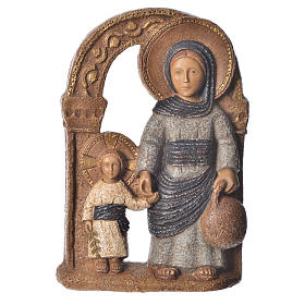 Virgen de Nazaret azul 35 cm. piedra Bethléem s1