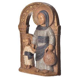 Virgen de Nazaret azul 35 cm. piedra Bethléem s2