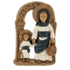 Virgen de Nazaret azul 35 cm. piedra Bethléem s5