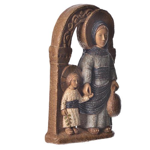 Virgen de Nazaret azul 35 cm. piedra Bethléem 3