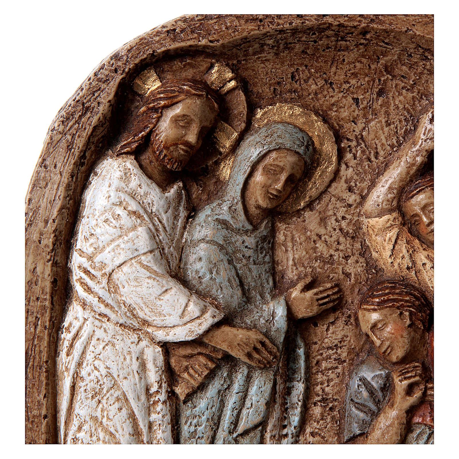 Bassorilievo Miracolo alle Nozze di Cana 20x15cm 4