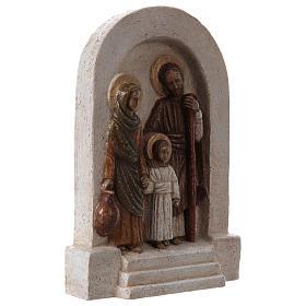 Bassorilievo in pietra Sacra Famiglia 30x20 cm s4