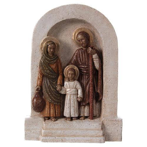 Bassorilievo in pietra Sacra Famiglia 30x20 cm 1