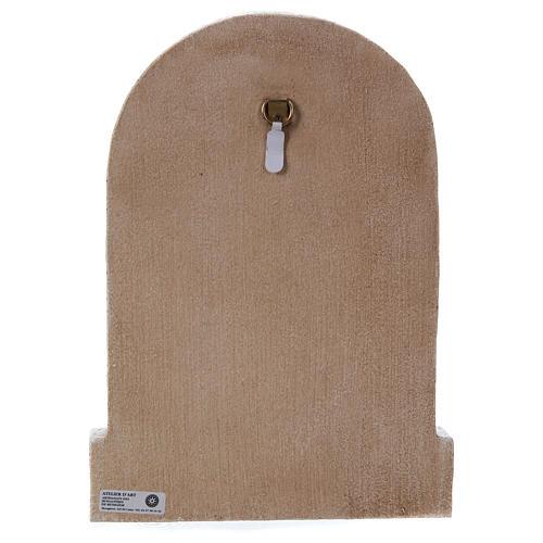 Bassorilievo in pietra Sacra Famiglia 30x20 cm 5