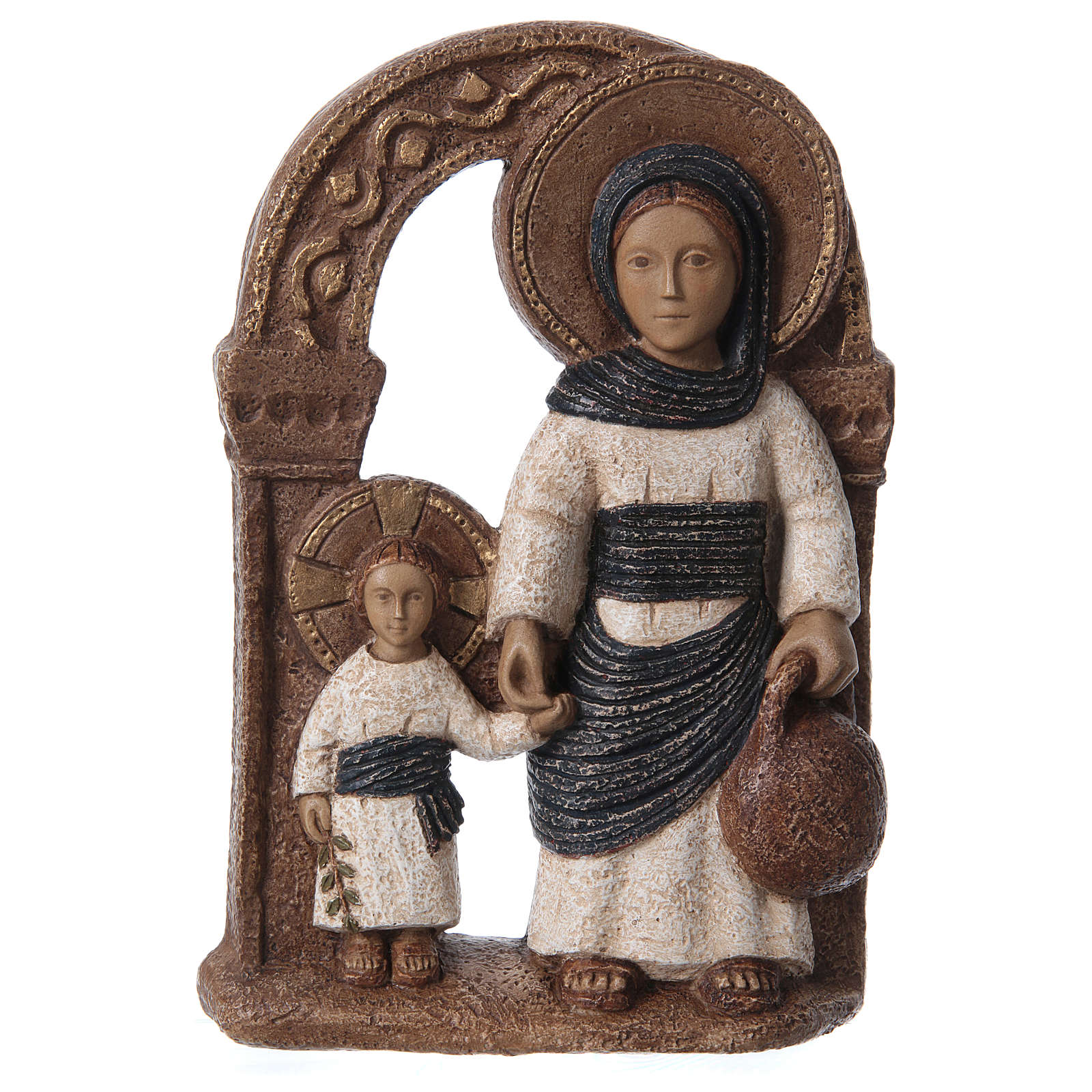 Bassorilievo in pietra Maria di Nazareth 30X20 cm 4