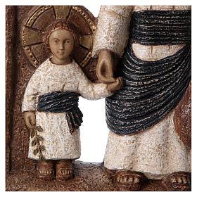 Bassorilievo in pietra Maria di Nazareth 30X20 cm s2