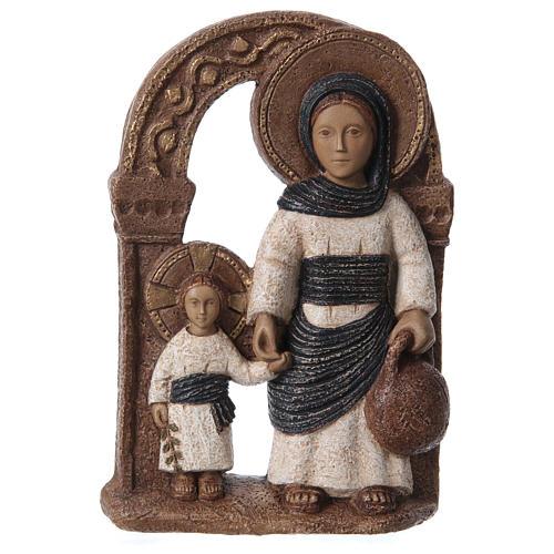 Bassorilievo in pietra Maria di Nazareth 30X20 cm 1
