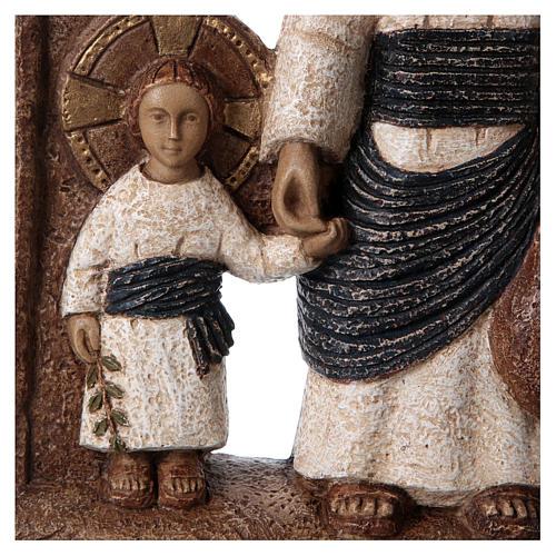 Bassorilievo in pietra Maria di Nazareth 30X20 cm 2