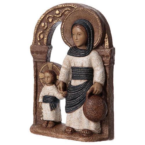 Bassorilievo in pietra Maria di Nazareth 30X20 cm 3