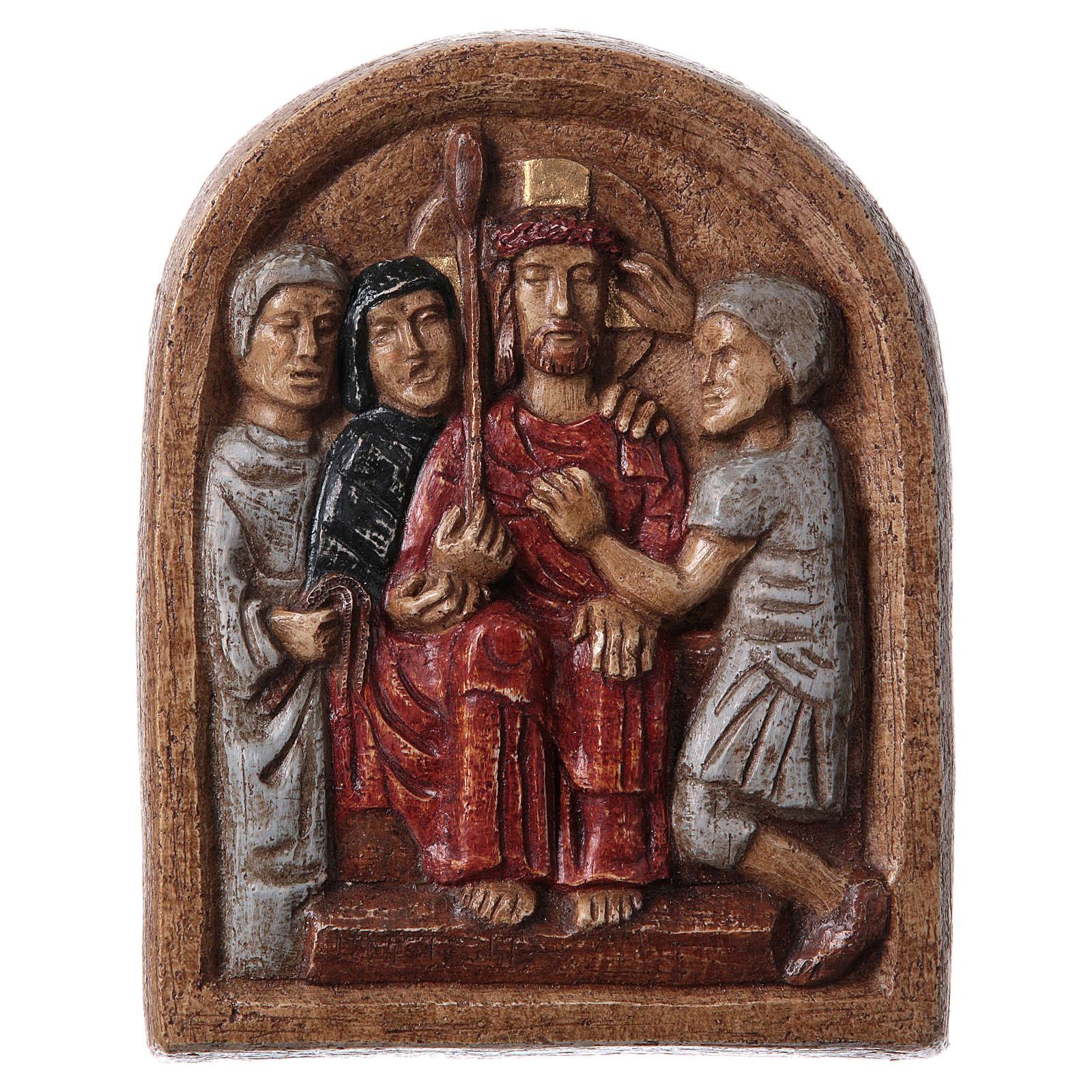 Bassorilievo Incoronazione di spine 20x15 cm Bethléem 4