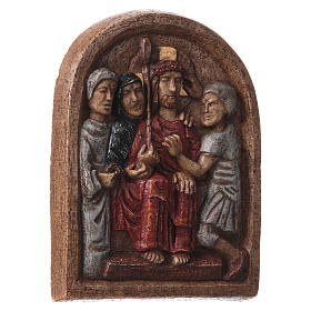 Bassorilievo Incoronazione di spine 20x15 cm Bethléem s4