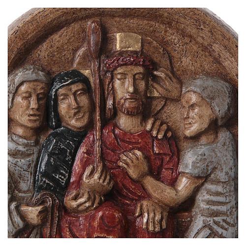 Bassorilievo Incoronazione di spine 20x15 cm Bethléem 2