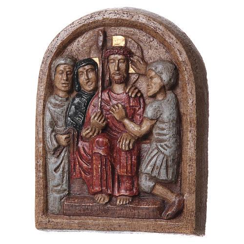 Bassorilievo Incoronazione di spine 20x15 cm Bethléem 3
