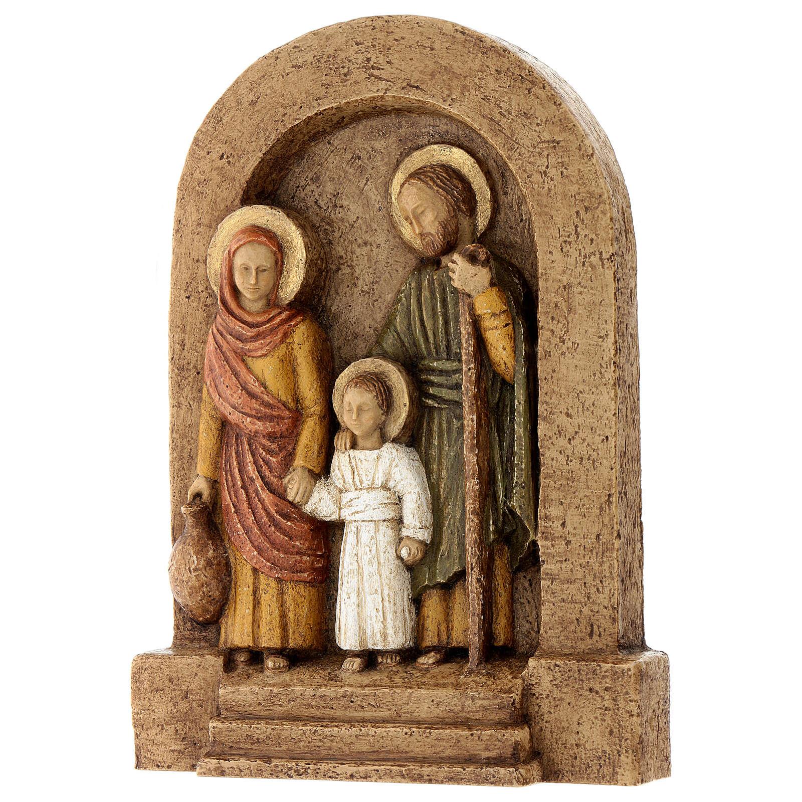Bajorrelieve Sagrada Familia piedra Bethléem 25x20 cm 4