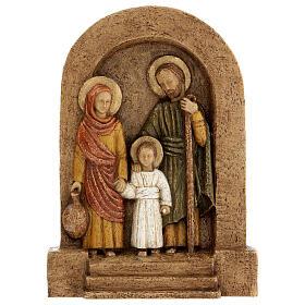 Bajorrelieve Sagrada Familia piedra Bethléem 25x20 cm s1