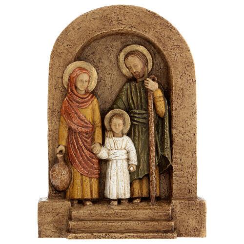 Bajorrelieve Sagrada Familia piedra Bethléem 25x20 cm 1