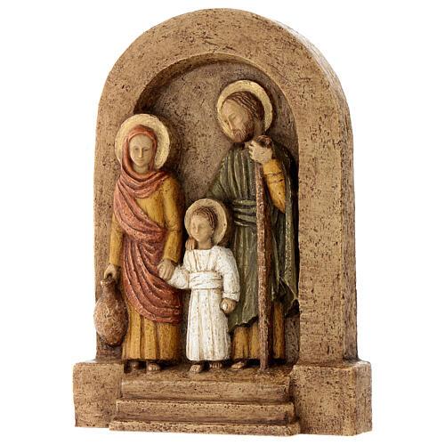 Bajorrelieve Sagrada Familia piedra Bethléem 25x20 cm 3