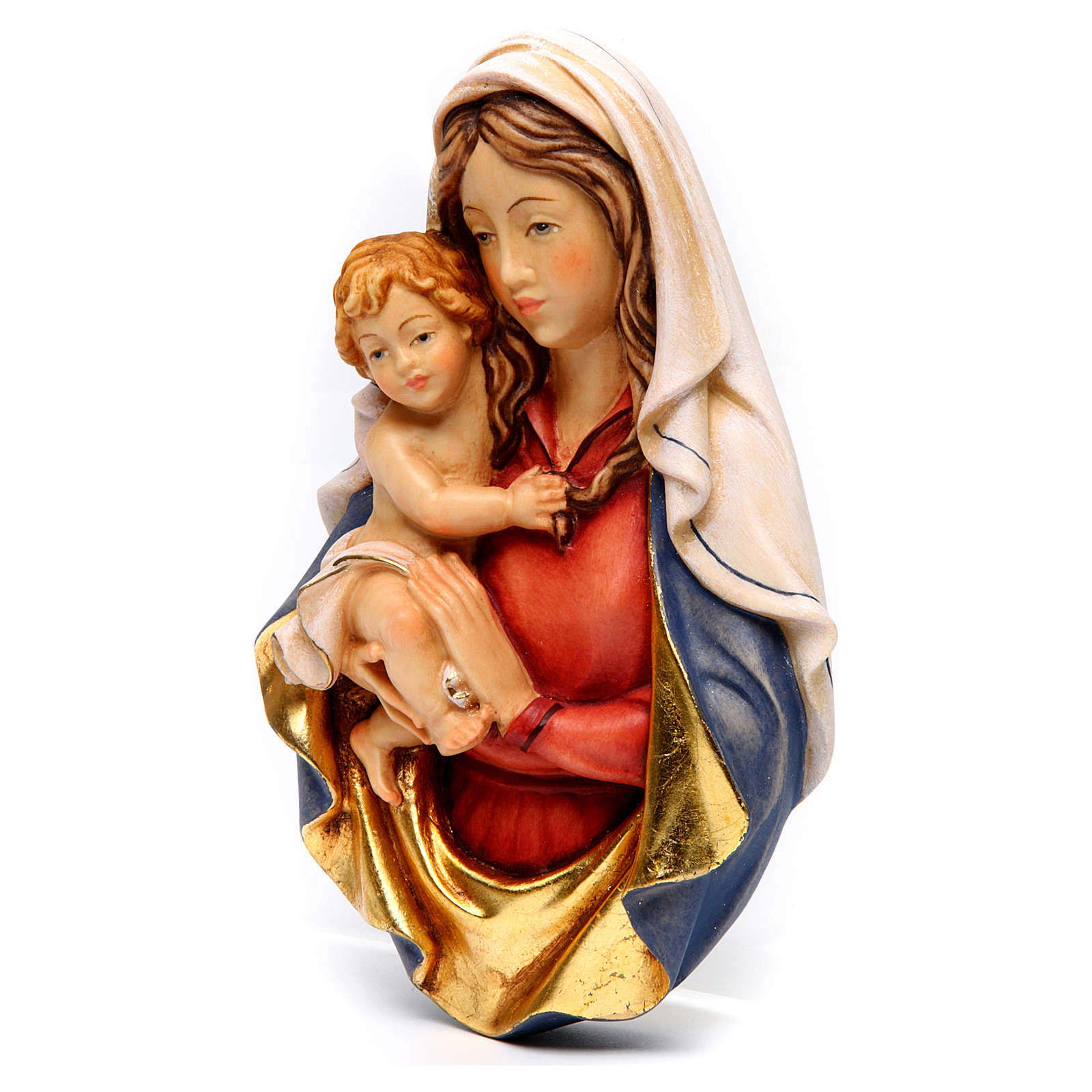 Bajorrelieve madera Virgen Raffaello 4