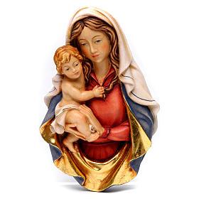 Bajorrelieve madera Virgen Raffaello s1