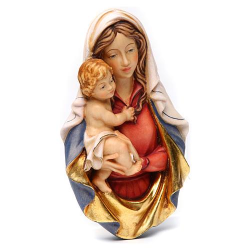 Bajorrelieve madera Virgen Raffaello 3