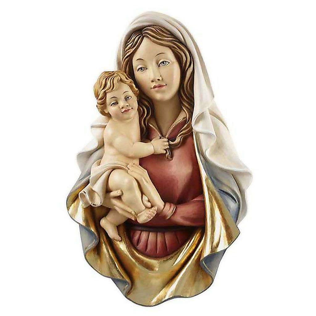 Bassorilievo legno Madonna Raffaello 4