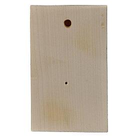 Bassorilievo legno dipinto mani giunte 8 cm s3