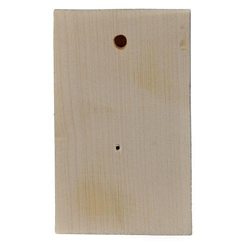 Bassorilievo legno dipinto mani giunte 8 cm 3