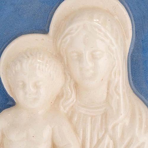 Madonna z dzieciątkiem płaskorzeźba ceramiczna