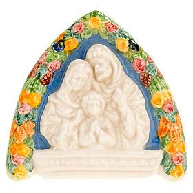 Bassorilievo ceramica triangolare Sacra Famiglia s1