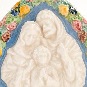 Bassorilievo ceramica triangolare Sacra Famiglia s2