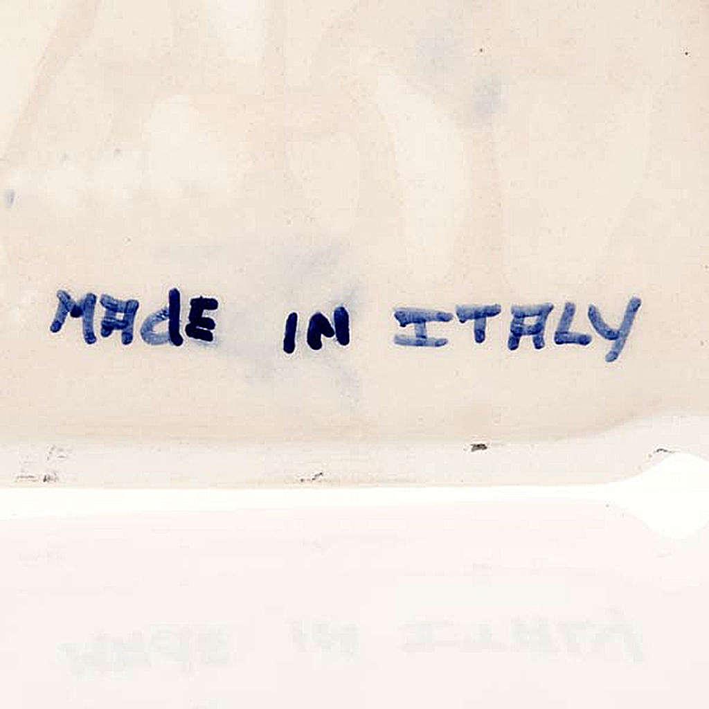 Bassorilievo ceramica tondo Madonna con bambino 4