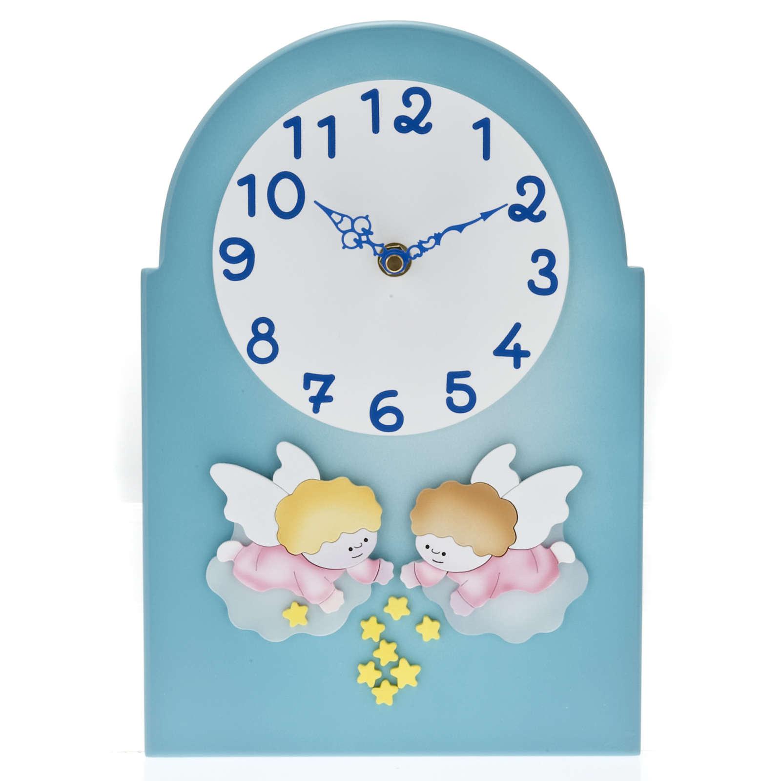 Cadre religieux horloge avec anges 4