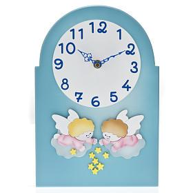 Cadre religieux horloge avec anges s1