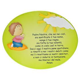 Cadre religieux Notre Père enfant en prière s1