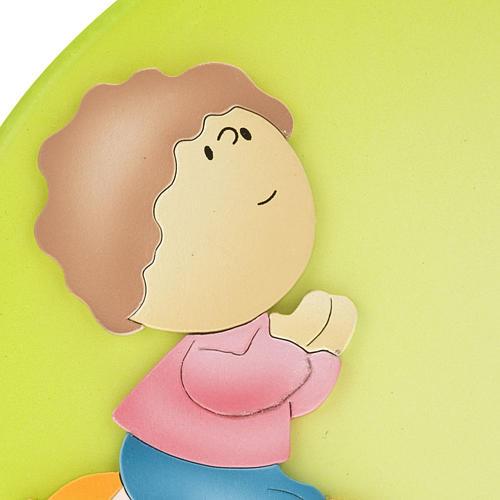 Cadre religieux Notre Père enfant en prière 2