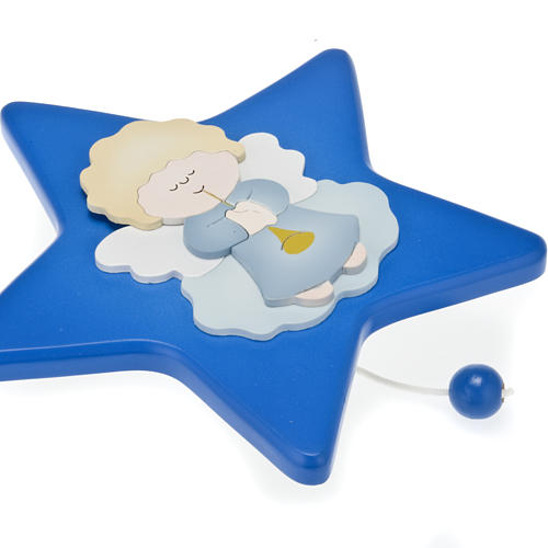 Musical box, star with guardian angel 3