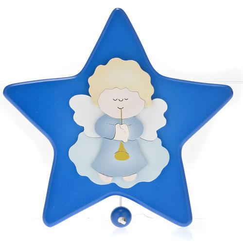Carillon étoile avec petit ange gardien 1