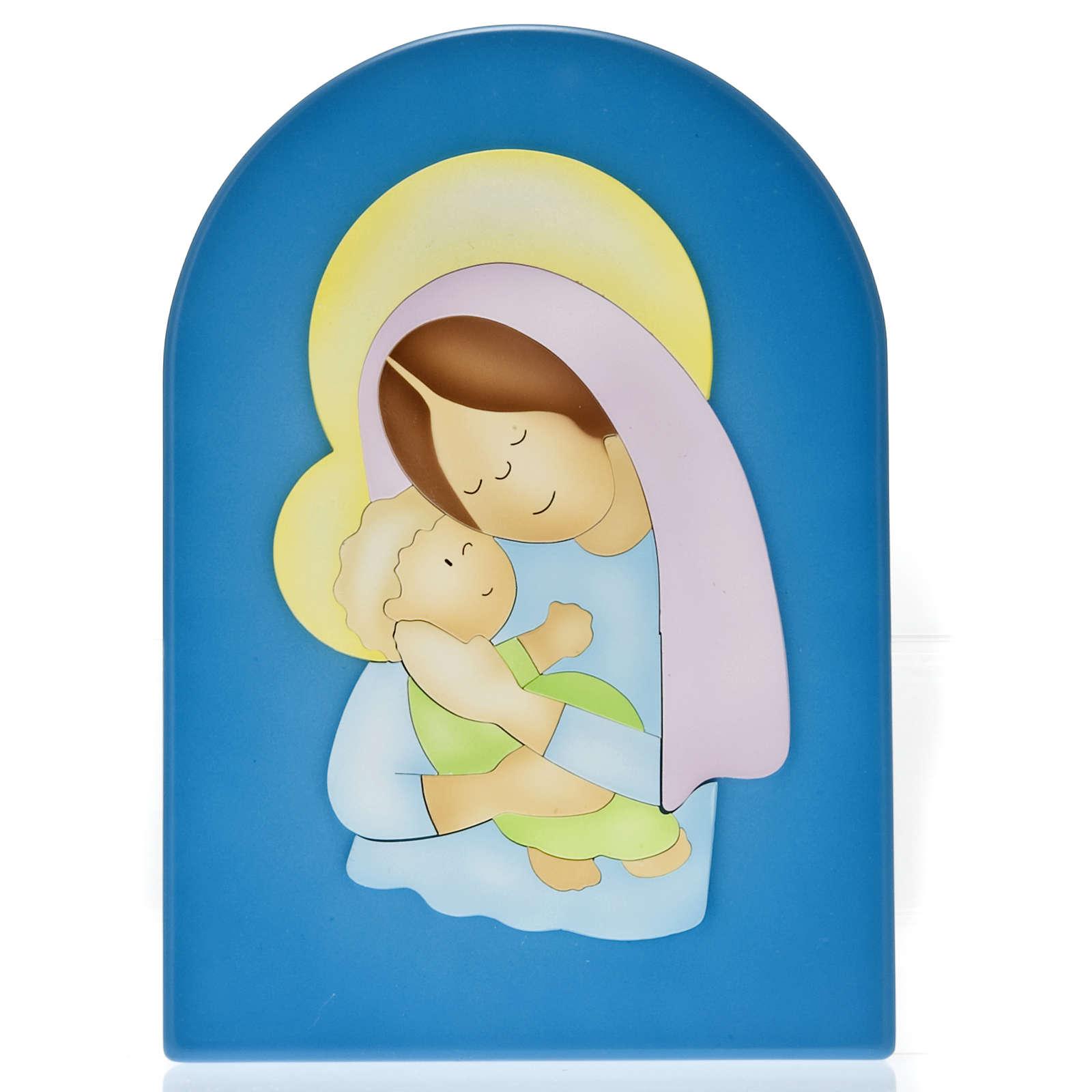 Basrelief-Tafel Madonna mit Kind 4
