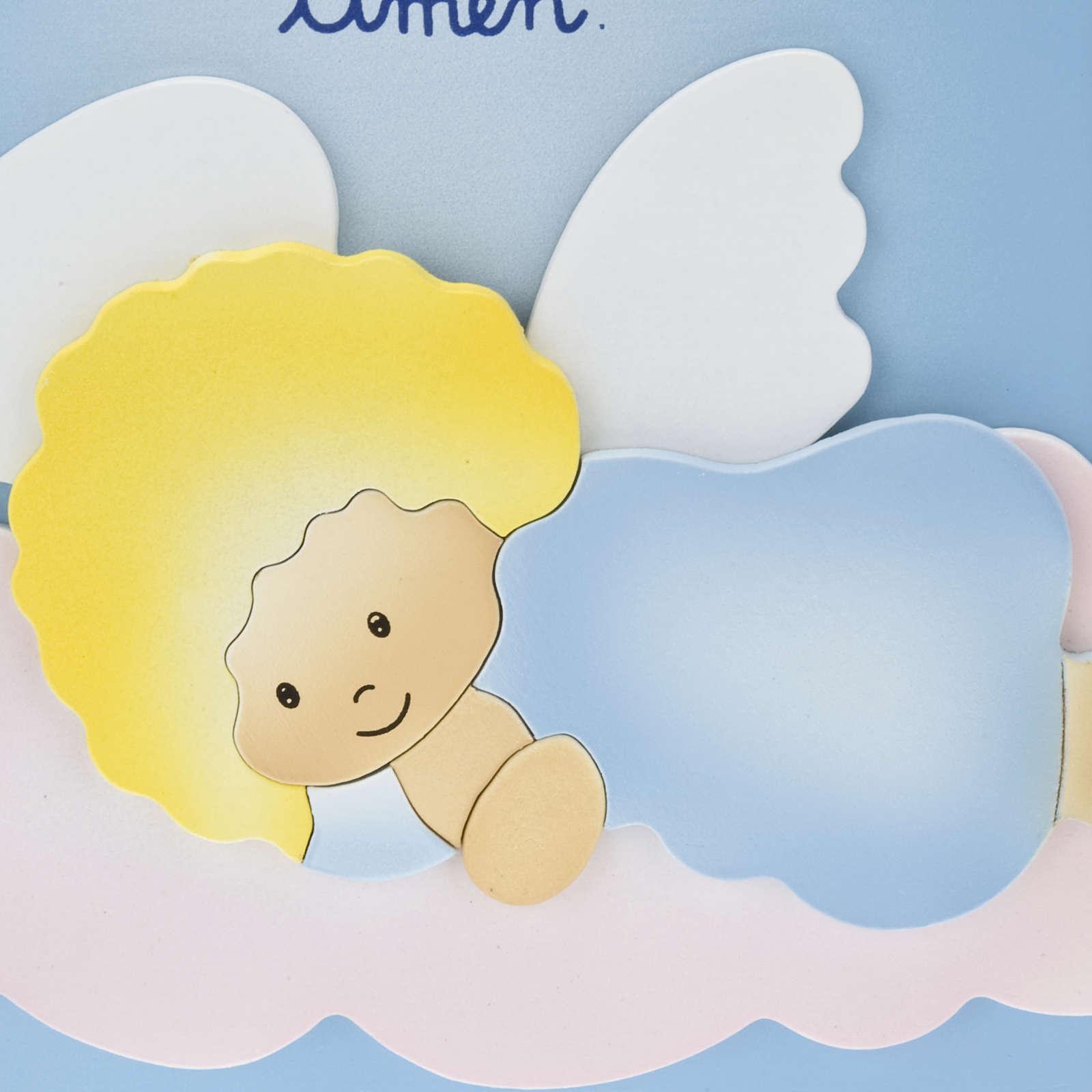 Pala bassorilievo Angelo di Dio su nuvola 4