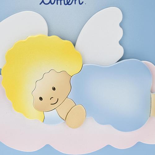 Pala bassorilievo Angelo di Dio su nuvola 2