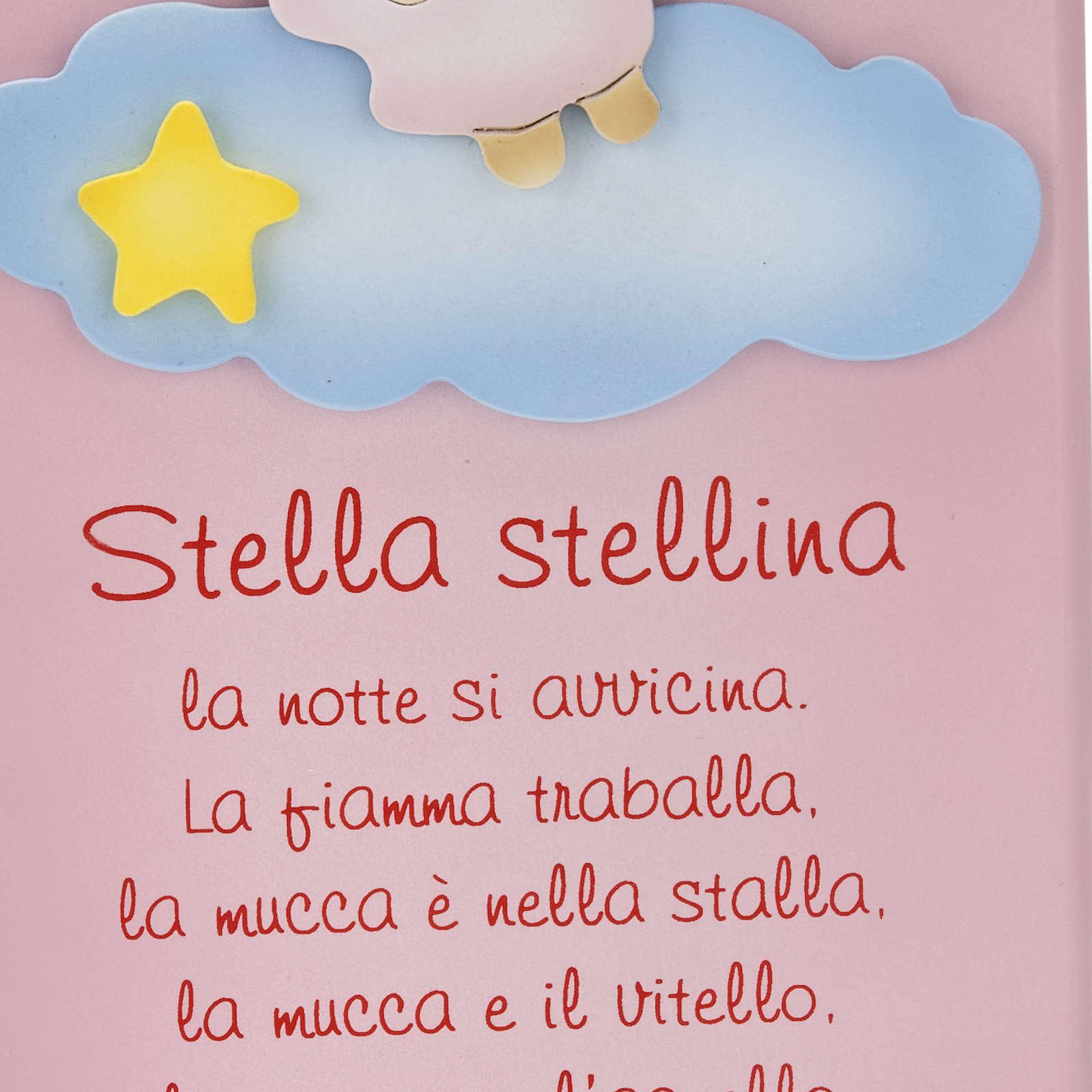 Pala bassorilievo legno Stella Stellina angelo 4