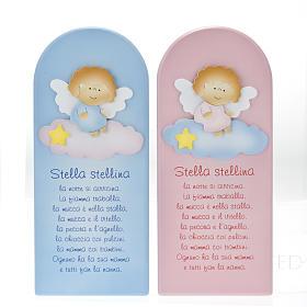Pala bassorilievo legno Stella Stellina angelo s1