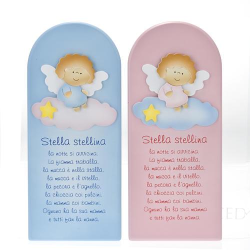 Pala bassorilievo legno Stella Stellina angelo 1