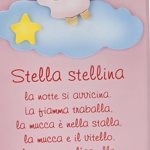 Pala bassorilievo legno Stella Stellina angelo 3