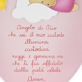 Retablo bajorrelieve ángel con niño dormido oval s3